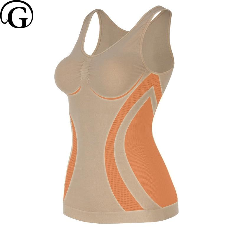 PRAYGER NEW Women Seamless Body Shaper Slimming Tummy Control Waist Tank Top Lift Breast Sleeveless Shapewear