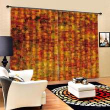 uxury Blackout 3D Window Curtains For Living Room Bedroom yellow brick curtains for bedroom Blackout curtain(China)