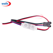 Mini ws2801 controller 3key Led strip controller with 4pin connector for WS2801 RGB DC5v