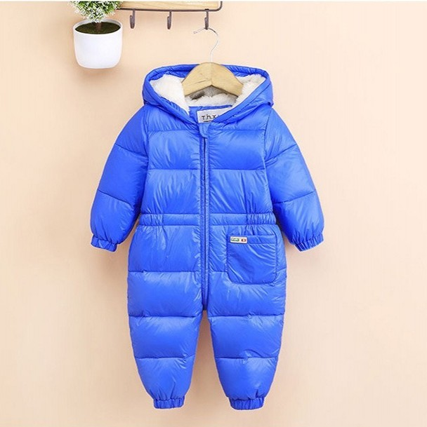 2017 Winter Newborn baby Girl boy hooded rompers infant jumpsuit duck down fluff toddler clothes outwear top quality baby romper winter baby snowsuit baby boys girls rompers infant jumpsuit toddler hooded clothes thicken down coat outwear coverall snow wear