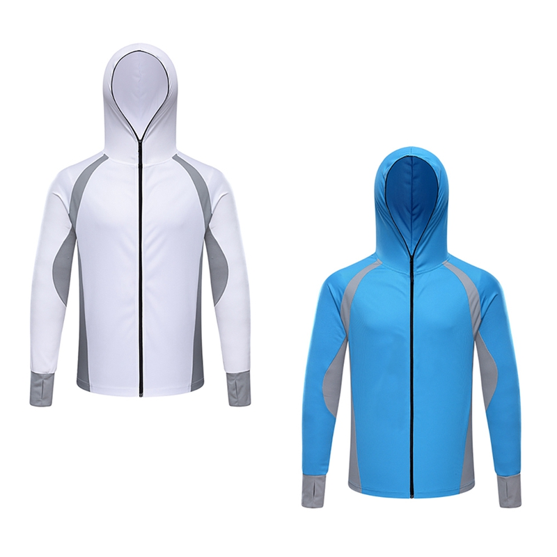 Men Fishing Clothes Quick Dry Long Sleeve Breathable Fishing Shirts Anti UV Hooded Cycling Hiking Fishing Jackets