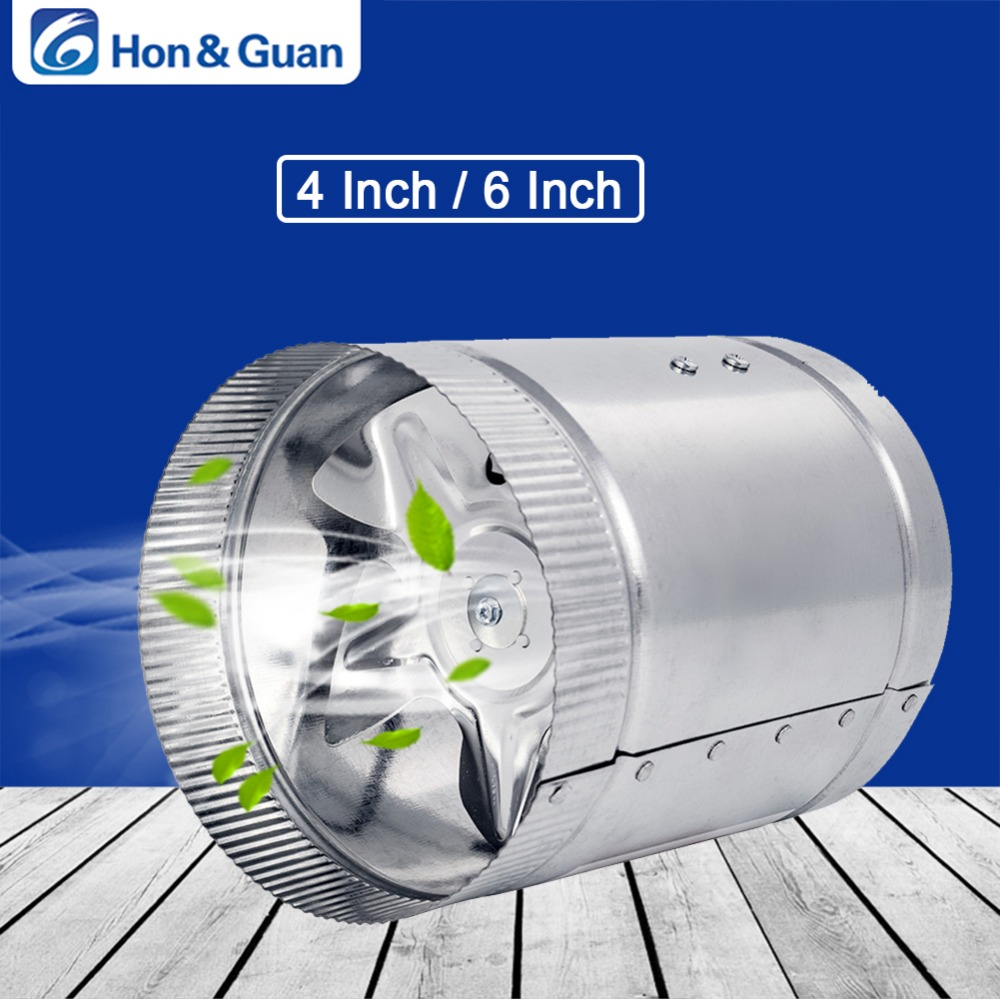 цена на Hon&Guan 4'' 100CFM / 6'' 240CFM Air Duct Fan Low Noise Inline Booster Fan For Kitchen Bathroom, For Grow Room Ventilation; 110V