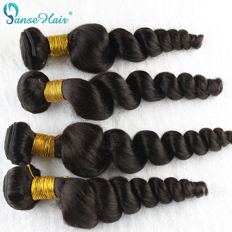 Panse Hair Loose Wave Peruvian Human Hair Weaving Customized 8-30 Inches 1B Factory Direct Sale 100% Human Hair Extension