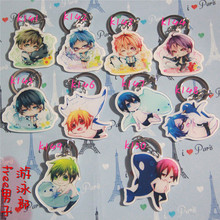 10pcs/set Anime Keychain Anime Free! Iwatobi Swim Club Rin Macoto Haruka Nanase Tachibana De Llaveros Full Set Keyrings Pendant