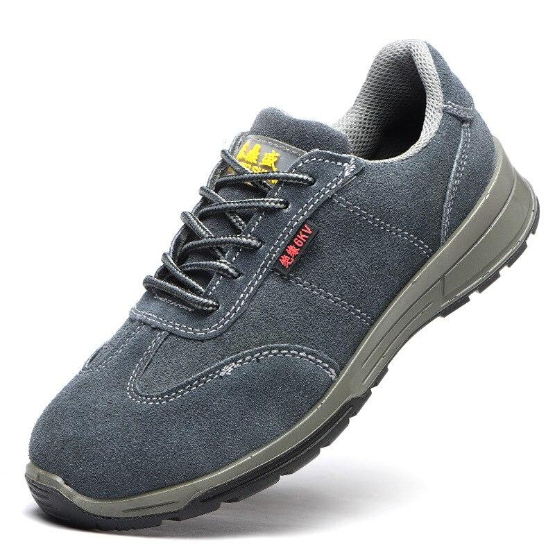 6 Couro Isolamento Sapato Grande Homem Macio Biqueira Aço Respirável Moda Segurança Masculina Tamanho De Botas Trabalhador Trabalho Kv Calçados Rq67xvZxwW