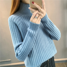 2019 New Arrival Women Warm Turtleneck Long Sleeve Basic Knitted Sweater Female Solid Color Pullovers