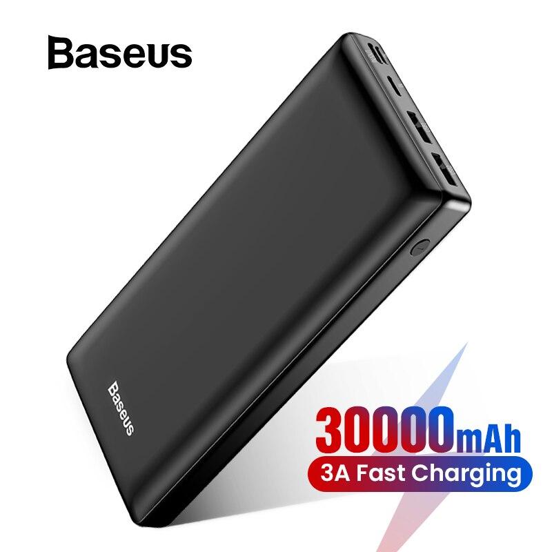 Baseus 30000mAh Power Bank For iPhone Samsung Xiaomi C External Battery Pack