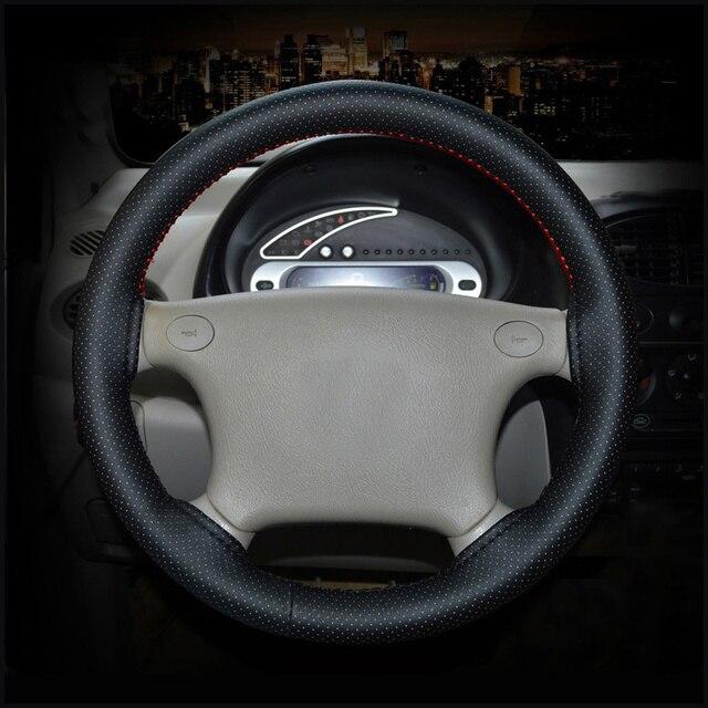 GLCC couverture de volant en Faux cuir souple 38cm   Tresse sur le volant, universel avec aiguille et fil