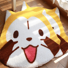Animal Baby Play Mats Kids rug Kawaii Cat floor mats Double Surface Baby Crawling Carpet Rug Game Pad Children Room Decor 90cm baby play mats carpet kids room rabbit lion animal soft cotton crawling mats round floor rug playmats for baby gym mat