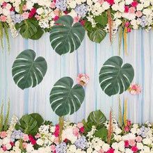 12pcs Tropical Palm Leaves flower for Beach Wedding bridal baby shower birthday table Centerpieces Hawaiian Luau