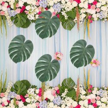 12pcs Tropical Palm Leaves flower for Beach Wedding bridal baby shower birthday table Centerpieces Hawaiian Luau prom Decoration