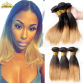 Two Tone Brazilian Weave Hair Silky Straight Ombre Brazillian Straight Short Human Hair Two Tone Brazilian Weave Hair 4 Bundles