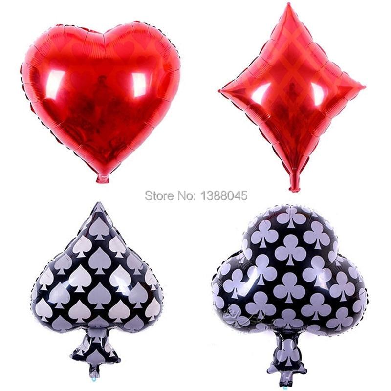 Playing Card Foil Balloons Cartoon Cards Inflatable Air Balloon