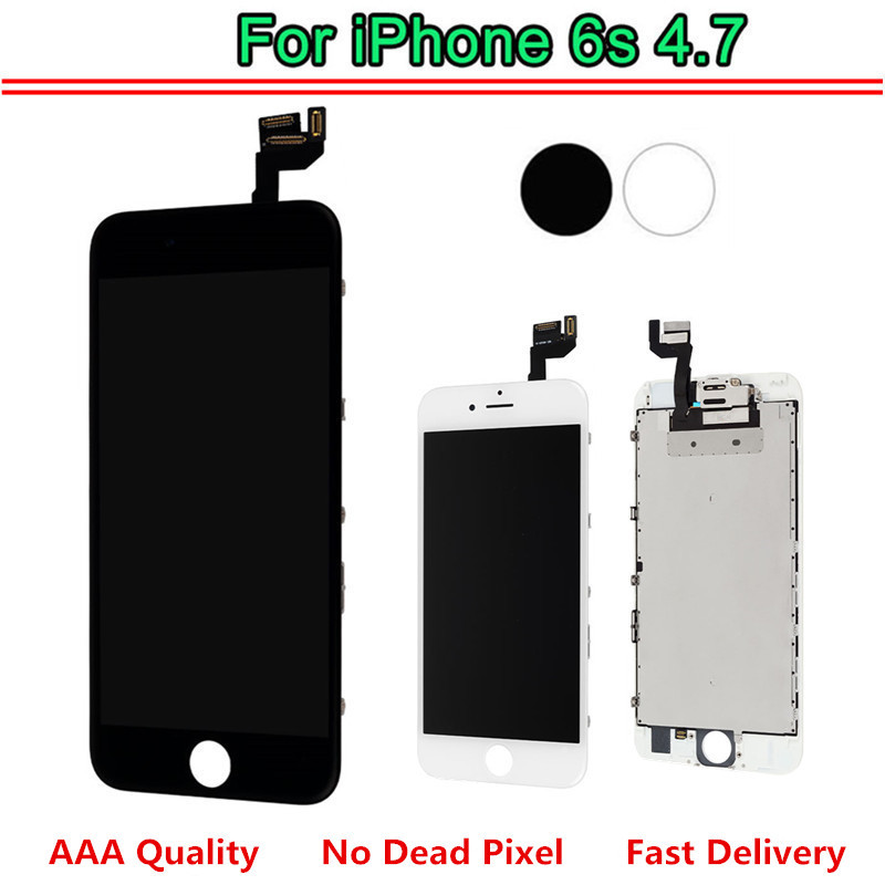 Replacement For iPhone 6S LCD Display LCD Digitizer Touch Screen Completed Assembly With Front Camera + Speaker No Dead Pixel image