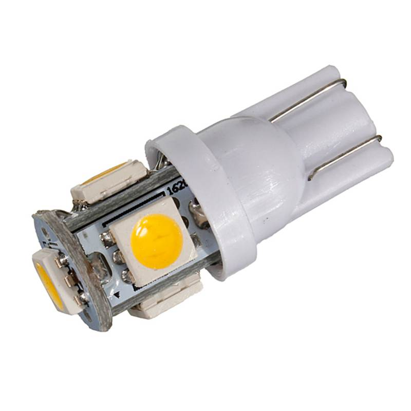 Best Price 10pcs/lot Warm White 3000K T10 W5W 5 SMD 5050 LED Car Auto License Plate Wedge Side Lights Lamp Bulb 12V Yellow 100pcs lot car auto led t10 5050 w5w 5 smd 194 168 led white car side wedge tail light lamp bulb 12 30m sticker on carvoiture