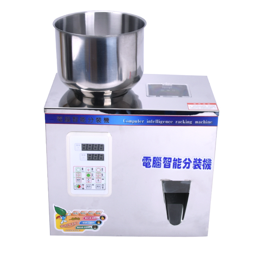 1pcs 2-100g tea Packaging machine grain filling machine granule medlar automatic salt weighing machine powder seedfiller zonesun 2 200g tea candy hardware nut filling machine automatic powder tea filling machine