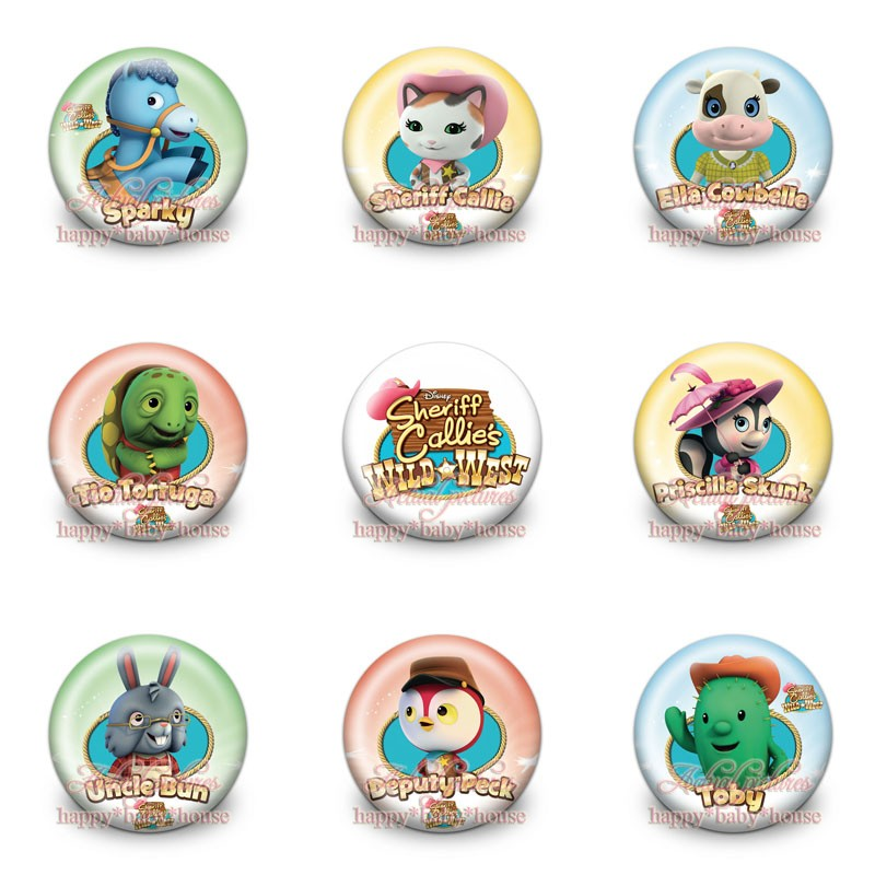 Mixed 90pcs Sheriff Callies Wild West Buttons Pins Badges Novelty Round Badges,30mm Diameter,accessories For Clothing/bags,gift Luggage & Bags