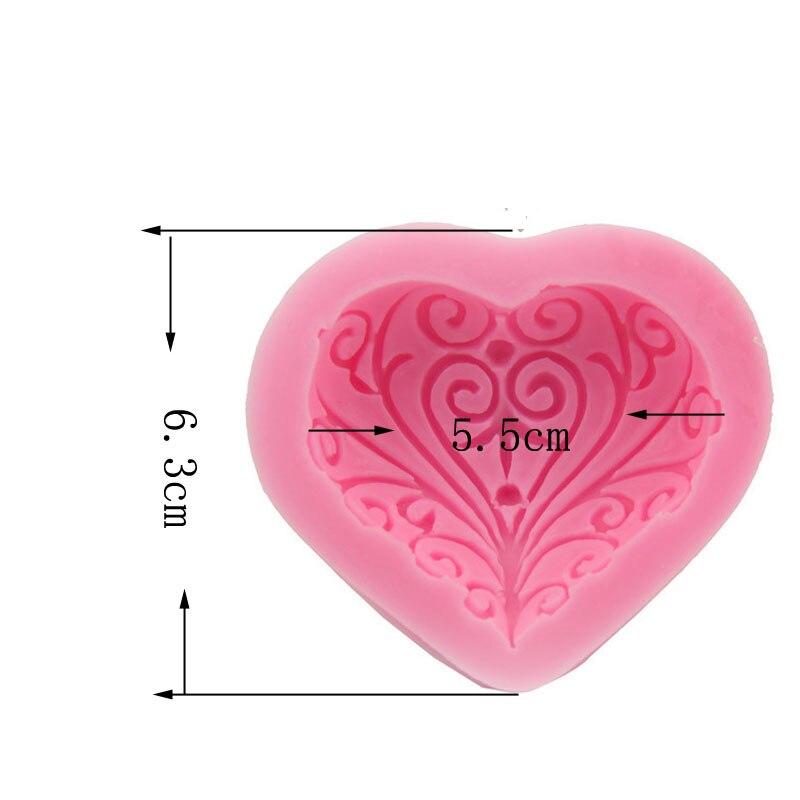 Toy Sevgisi Ürək Forması Silikon Kalıp Tort Dekorasiya - Mətbəx, yemək otağı və barı - Fotoqrafiya 2