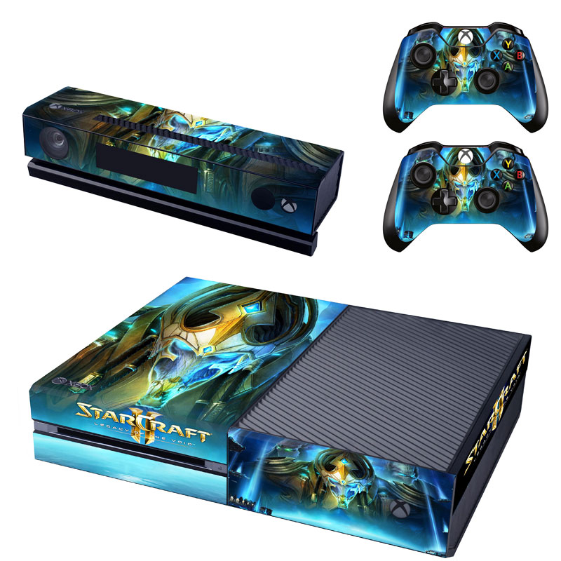 New Design for Starcraft Skin Sticker for Xbox One Kinect and Console and 2 controller skins Stickers Decal Vinyl