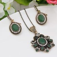 Vintage Flower Bridal Earrings Jewelry Turkish Gold Color Round Romantic Earring Indian Swarovski Elements Women Resin