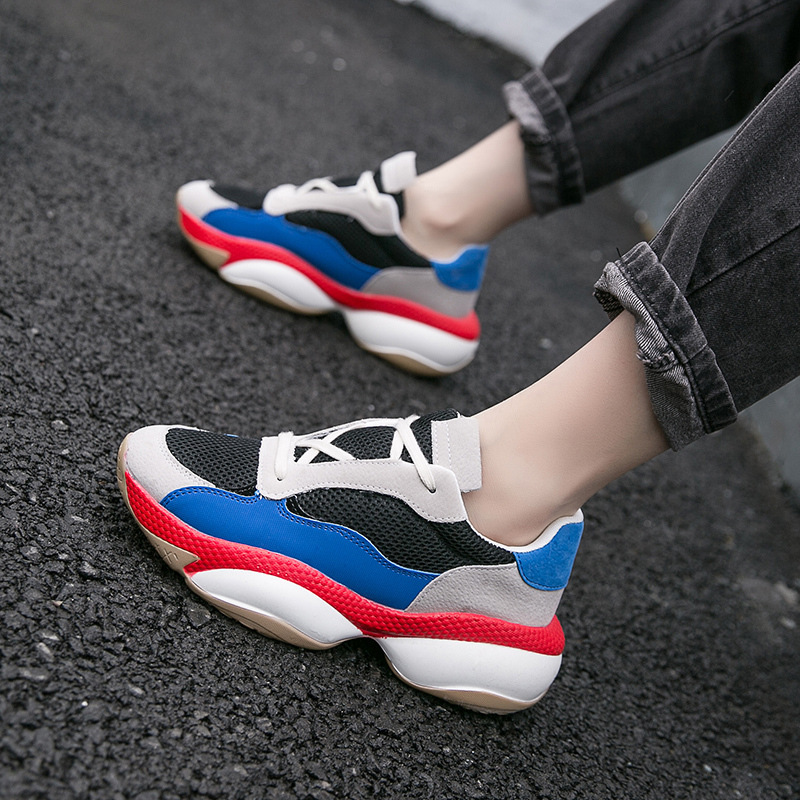 2019 New Women Casual Shoes Mesh Comfortable Breathable Platform Woman Sneakers Ladies Trainers Chaussure Tenis Feminino A5-12