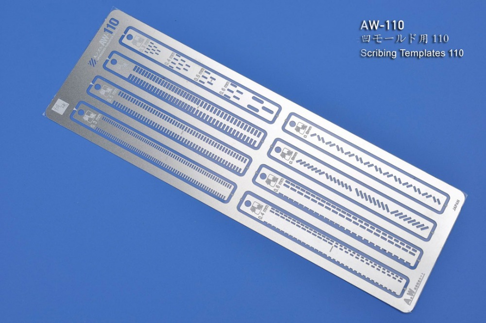 Etching Parts For Gundam Scribing Templates AW110 Photo-etched Sheets Accept Wholesale