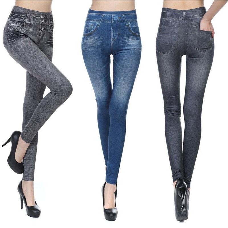 New Women Jean Skinny leggings Stretchy Slim Leggings Pencil Pants Women Fashion Denim Pants