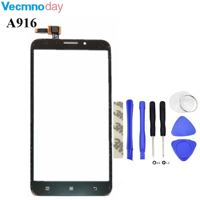 Vecmnoday High Qulaity HighScreen Touch Glass For Lenovo A916 A 916 Touch Screen Digitizer Panel Front Outer Glass Lens Sensor