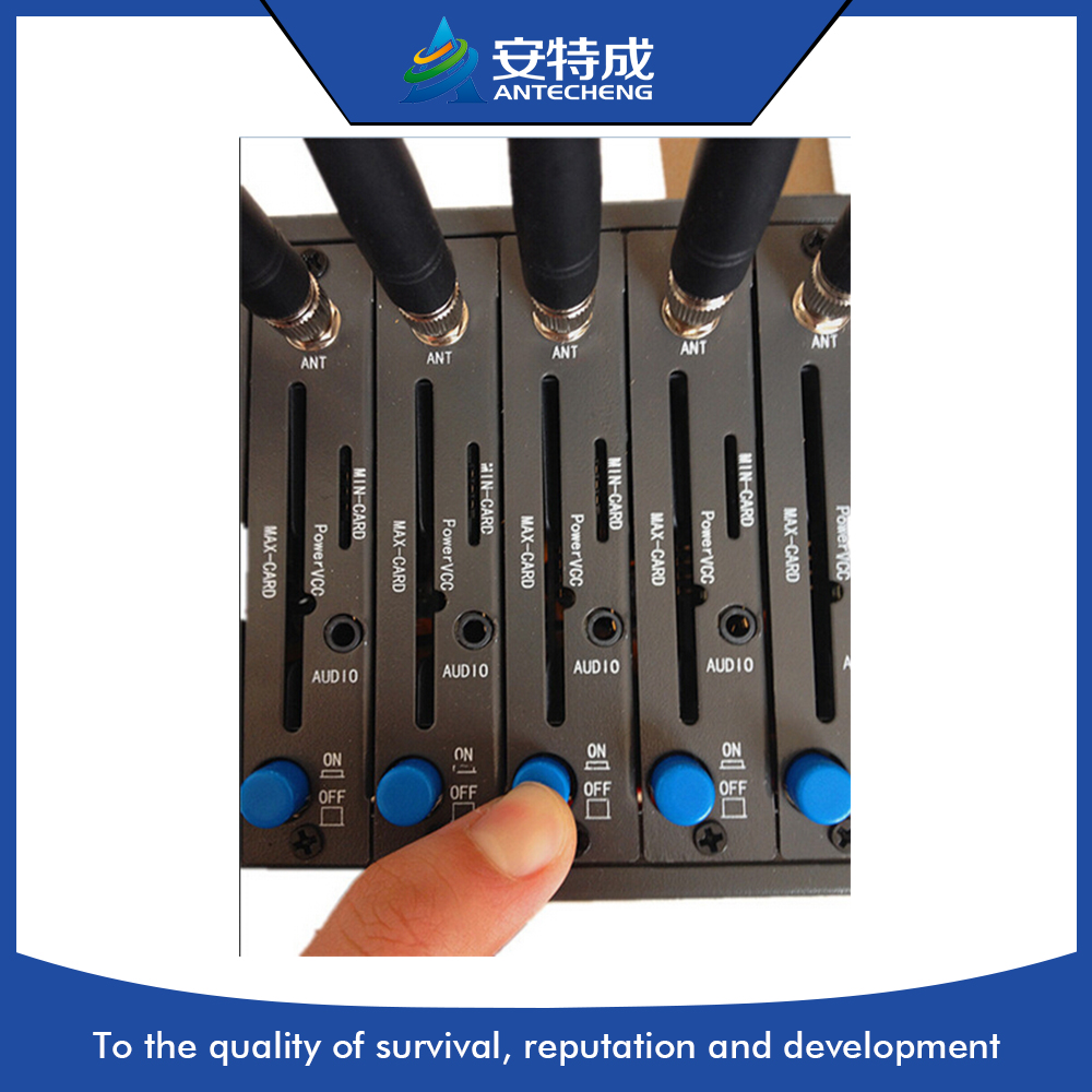 Factory Wavecom Q2406B 4 port modem pool, GSM GPRS 4 port sms modem support stk ussd