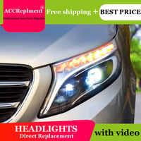 Diseño de coches para los faros de BENZ moto Ojos de Ángel 2016 para la barra de luz LED de BENZ Vita Q5 bi lente de xenón h7 luz de día de xenón runnning