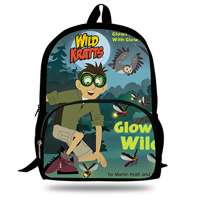 2019 Hot Sale Wild Kratts Popular Cute 16 Inch Schoolbags Anime 3D Print Backpacks Cartoon Travelbag For Girls&Boy For Children