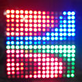 DC5V 16*16 Pixel WS2812B LED Full Color Panel Digital Flexible Individually addressable Flex RGB Lights Display Board 1 pcs/lot