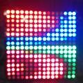 DC5V 16*16 Pixel WS2812B LED Full Color Placa de Exposição do Painel Flexível Digitais endereçável Individualmente RGB Flexível Luzes 1 pçs/lote