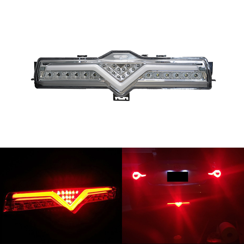 Светодиодный задний бампер обратного тормозного DRL Туман свет сборки Наборы Chrome дым для Scion FR S для Subaru BRZ для Toyota 86 стайлинга автомобилей