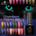 Saviland 1pcs UV 10ml Chameleon Cat Eyes Magnetic Varnishes Long-lasting LED UV Soak Off  Nail Gel  Changing Polish
