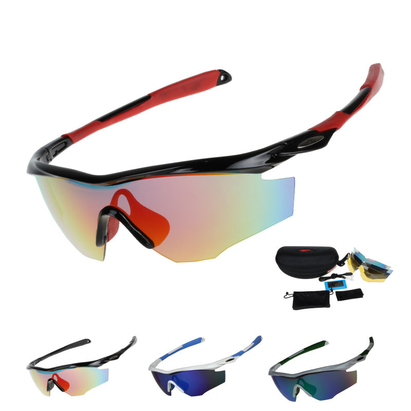 Prix pour EOC Polarisé Vélo Lunettes de Vélo Protection Équitation Lunettes Conduite Pêche Sports de Plein Air lunettes de Soleil UV 400 3 Lentille 812