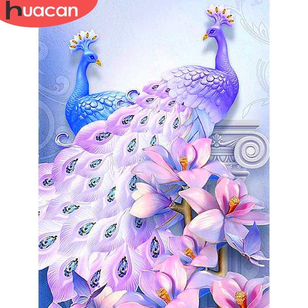 HUACAN Diamond Art Peacock Diamond Painting Full Square New Arrival Rhinestones Picture Diamond Embroidery Diamond Mosaic Animal(China)
