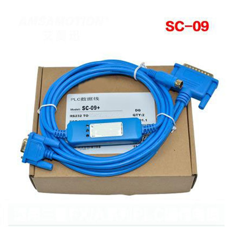 SC-09 Programming cable PLC data cable download cable communication cable SC 09 for FX serial serial PLC SC-09 programming cable fx 50 du cab0 plc touch screen cable communication lines
