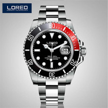 LOREO Watches Automatic Mechanical Army Waterproof Sports Mens Watch Leather Fashion Casual Luxury Brand Relojes Deportivos K23