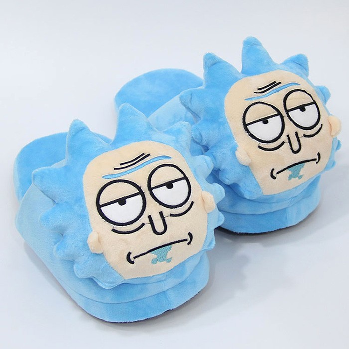 Rick and Morty Mr. Meeseeks / Morty Smith / Rick Sanchez Plush Slippers Winter Indoor Shoes Soft Stuffed Toy Doll
