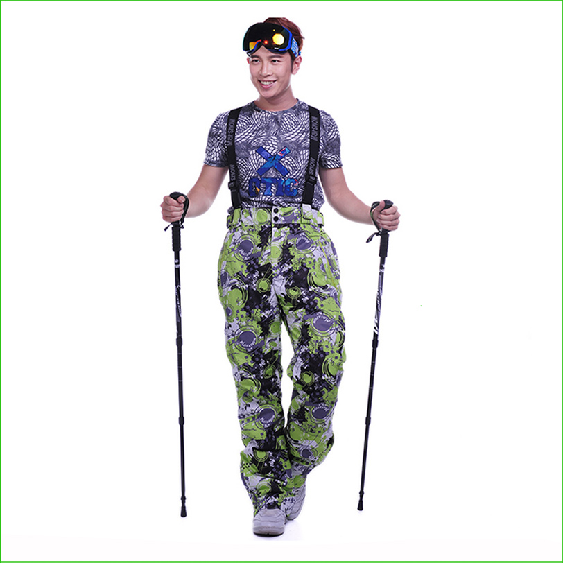 MS04P nouveau pantalon de ski d'hiver Double couche imperméable à l'eau coupe-vent extérieur pantalon de ski snowboard homme