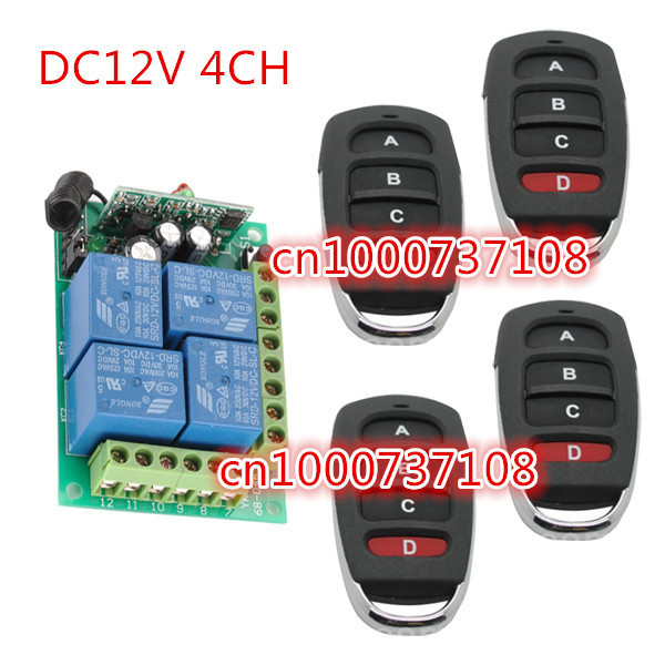 DC12V 10A relay transmitter + receiver 315mhz learning code switch for room lights /LED Lamp with CE free shipping learning code 315mhz dc12v