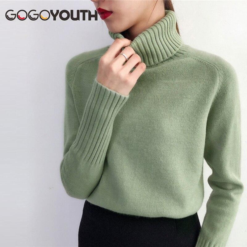 Gogoyouth suéter de Otoño de 2019 de invierno de Cachemira de las mujeres suéter y Pullover mujer Tricot Jersey para mujer