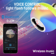 Remote Control Bluetooth E27 Led Music Bulb AC110-265V 7+3W RGB White Wireless LED Lamp for Party Home
