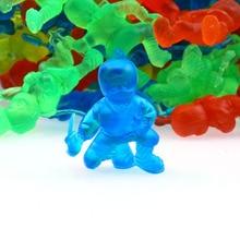 20pcs/lot 2.5CM PVC Mini Colorful Ninja Model Toy for Kids Gift Random Colors