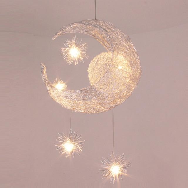 Kinderen lamp aluminium led draad hanglampen slaapkamer eetkamer ...