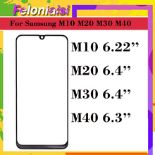 10Pcs/lot For Samsung Galaxy M10 M20 M30 M40 Touch Screen Front Glass Panel LCD Outer Display Lens M105 M205 M305 M405