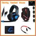 Noswer i8 rato + sades gaming headset fones de ouvido + t90 mousepad com 3.5mm 1 Fêmea para 2 macho Adaptador De Áudio para PC Gamer Telefones