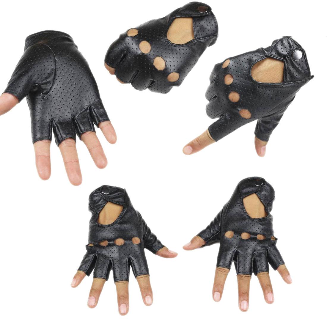 Man  And Women's Fashion Gloves Girls Semi-finger Gloves Dance Jazz Punk Personality Rivets Gloves Cutout Fingerless Gloves