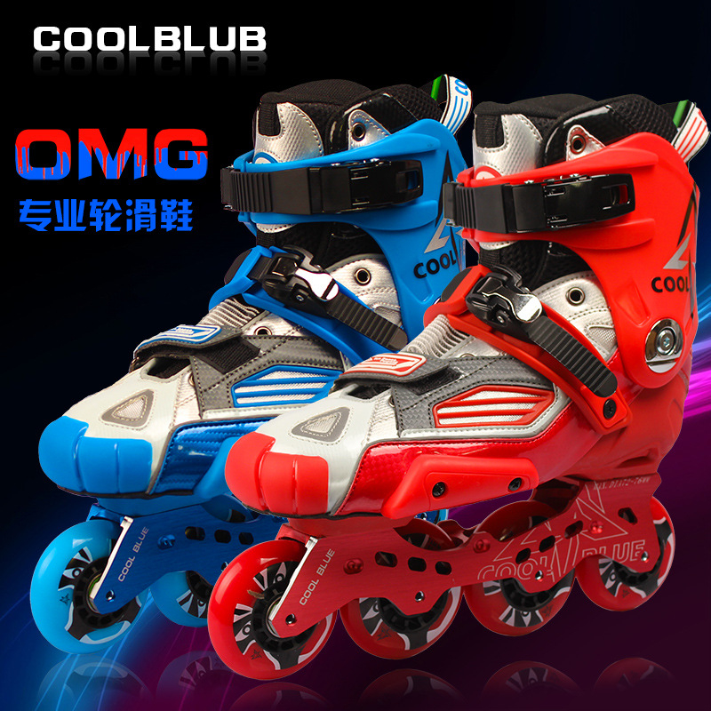 Professional Adults Inline Skates Durable 85A PU Wheels ILQ-9 Bearings Breathable Net Boot for SEBA Powerslide RB FSK Slalom professional long track ice blade 330mm 380mm 430mm 7075 alunimium alloy base frame for kids ice speed skates and adults